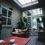 breakfast room - picture taken with Lomo LC-Wide