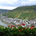 view of Cochem from the castle