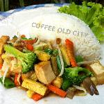 Fried Mixed Vegetables and Tofu