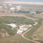Looking down to Casa Fajara