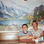 """Two Austrians eating """"Bockwurst"""" & feeling like at home"""