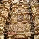 Figuras en los templos de Khajuraho