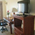 Our remodeled room with a desk