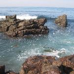 View from the tidepools, looking out into the ocean