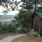 Our cabin on the side rim