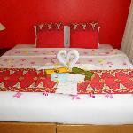 Chambre décorée lune de miel