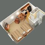 2 Bed Suite layout