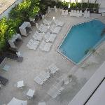 View of the hotel pool from the 6th floor