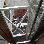 Vue du bar depuis l'ascenseur