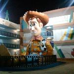 Woody! At the Toy Story Building