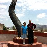 15 foot rattlesnake tail sculpture