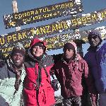Reached Uhuru peak at 6.55 on 13 Sep