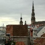 Ausblick von der Terrasse Richtung Altstadt