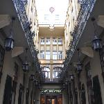 Entrance to hotel from street level