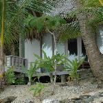 From the beach, looking at our bungalow