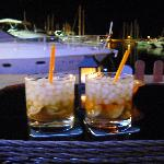 Cocktails at Liquido Bar in the Marina