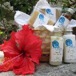 Organic bath products in tropical flavors