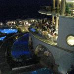 Restaurants at night