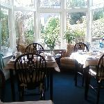 What a better way to start the day, a wonderful breakfast in the sunny breakfast room