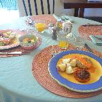 """Hubby's """"specially made entree"""" by Chef Carlos"""