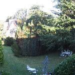 il parco visto dalla finestra della stanza