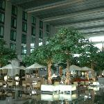 Lobby of hotel, largest in Asia.