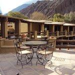 5.-Purmamarca: Terrazas de la Posta: agradable espacio al aire libre