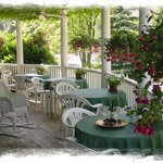 Our beautiful vine-covered veranda.