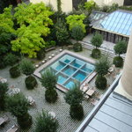view of the courtyard from our room(314)
