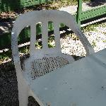 la sedia del cortile esterno