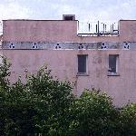 """Aussicht vom """"Balkon"""" von Zimmer Nr. 5"""