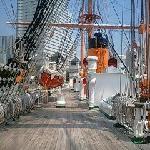 帆船日本丸の帆