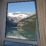 View of Lake Louise from our room's lakeview window