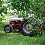 Rick on his Tractor at the Inn On The Horse Farm