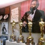 Francis Ford Coppola pictured with awards at the New Coppola Winery.