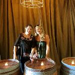 Intimate Wine Tour Clients inside the Bella Winery cave.