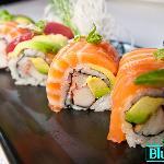 Rainbow Maki sushi medford