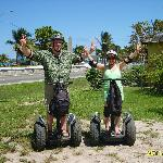 My husband and I on the Segways