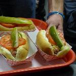 Hot Dog Chicago style