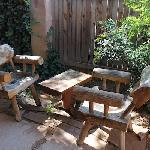 Our private seating area