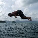 Great fun diving off the boat
