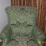 Old and beat up chair.