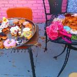 """Wedding """"cake"""" and doughnut reception"""
