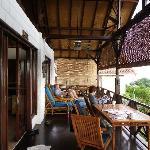 front verandah of villa