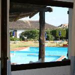 Vista della piscina dalla nostra stanza