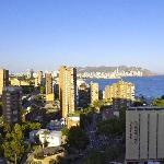 View of Benidorm from our 15th floor room