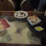 wine/food pairing after rhe cave tour