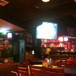 big screen near the bar