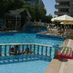 pool! in morning already half in shade!