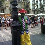 Barcelona driver guides-Photo street performer in Ramblas (Barcelona)